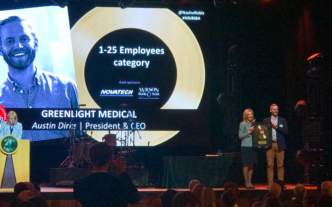 GreenLight Medical announced as Nashville's 2019 Best In Business Award Winner!